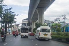 Sukhumvit  street view in  thailand. Royalty Free Stock Photos