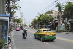 Sukhumvit  street view in  thailand. Royalty Free Stock Photo