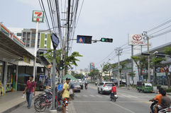 Sukhumvit  street view in  thailand. Royalty Free Stock Photography