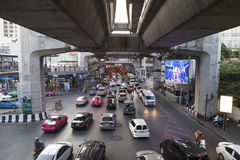 Sukhumvit ulica w Bangkok Obraz Stock