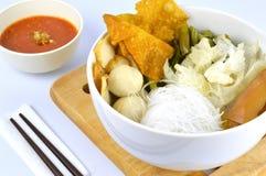Suki meal set.Asian food style. Suki in a bowl.Asian food style.White background stock photos