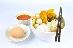 Suki meal set.Asian food style. Suki set serve with egg and spicy suki sauce.Asian food style.White background stock photography