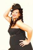 sukienkę kapelusz kobiety w ciąży Obraz Stock