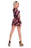sukienka blondynkę mini Fotografia Royalty Free
