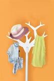 Sukiennego wieszaka stojak Fotografia Stock
