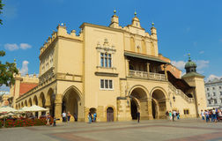 Sukiennice building in Krakow Royalty Free Stock Image