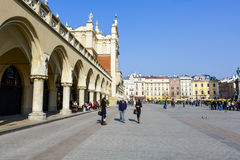 Sukiennice, Cloth Hall side view, in Krakow Stock Images