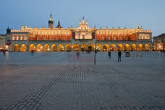 Sukiennice on the Krakow main square at night Royalty Free Stock Image