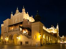 Sukiennice in Krakow by night Royalty Free Stock Image