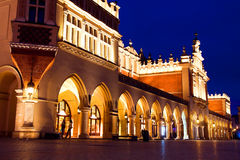 Sukiennice in Krakow at night Stock Photos