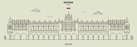 Sukiennice in Krakow, Poland. Landmark icon stock photo