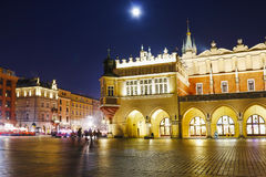 Sukiennice at the Main Market Square (Rynek) in Krakow, Poland Royalty Free Stock Photos