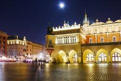 Sukiennice at the Main Market Square (Rynek) in Krakow, Poland Royalty Free Stock Photos