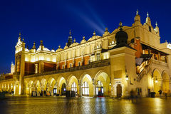 Sukiennice at the Main Market Square (Rynek) in Krakow, Poland Stock Photos