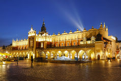 Sukiennice at the Main Market Square (Rynek) in Krakow, Poland Stock Photos