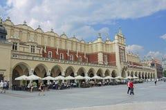 Sukiennice som buidning i Krakow Fotografering för Bildbyråer
