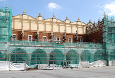 Sukiennice are under renovation Royalty Free Stock Photo