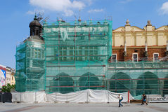Sukiennice are under renovation, Cracow, Poland Royalty Free Stock Image