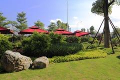 Sukienny pawilon w ogródzie Obrazy Stock