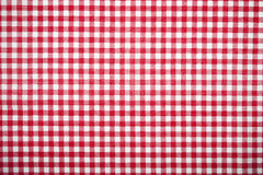 sukienny siatki wzoru czerwieni stół Obrazy Stock