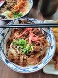 Sukiyaki诱惑 免版税库存照片
