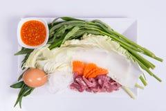 Sukiyaki集合 免版税图库摄影