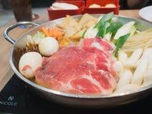 Sukiyaki, японская еда стоковые фотографии rf