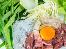 Sukiyaki beef set menu, Hot pot, Shabu Royalty Free Stock Images
