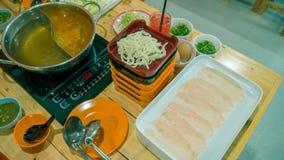 Sukiyaki eller shabu royaltyfri foto