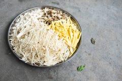 Sukiyaki fresh vegetable and mushrooms Stock Images