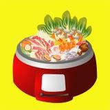 Sukiyaki image. Set of sukiyaki image Royalty Free Illustration