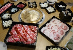 Sukiyaki Japanese menu set royalty free stock photos