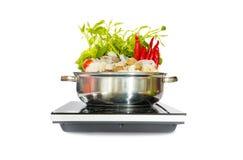 Sukiyaki matlagningkruka Arkivbild