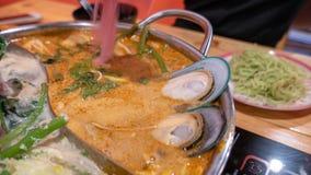 Sukiyaki ou shabu Photographie stock