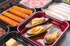Sukiyaki of Shabu-reeks Stock Afbeeldingen