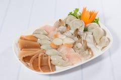 Sukiyaki skaldjuruppsättning fotografering för bildbyråer