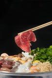 Sukiyaki uppsättning arkivbilder
