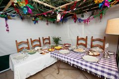 Sukkah royalty free stock photo
