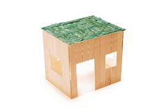 Sukkah. A sukkah on white background Royalty Free Stock Photography