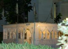 Sukkah, cabana provisória para o festival judaico de Sukkot Imagens de Stock Royalty Free