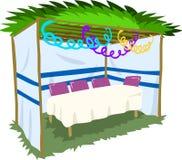 Sukkah Dla Sukkot Z stołem 2 ilustracja wektor