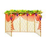 Sukkah für das Feiern von Sukkot Lizenzfreies Stockbild