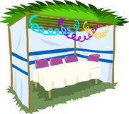 Free Sukkah For Sukkot With Table 2 Royalty Free Stock Image - 44063036