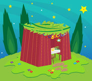 Sukkah At Night Royalty Free Stock Photography