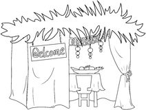 Sukkah For Sukkot Coloring Page Stock Images