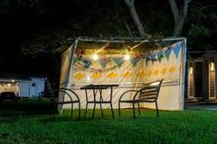 Sukkah - symbolic temporary hut for celebration of Jewish Holiday Sukkot Royalty Free Stock Photos