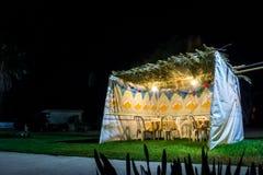 Sukkah - symbolic temporary hut for celebration of Jewish Holiday Sukkot Stock Photos
