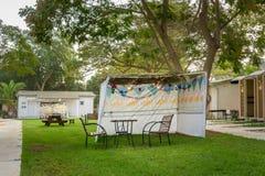 Sukkah - symbolic temporary hut for celebration of Jewish Holiday Sukkot Stock Image