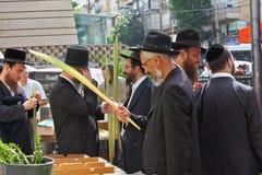 Sukkot。 节假日城市市场 免版税库存照片