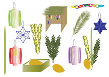 Sukkot元素-犹太传统假日元素 免版税图库摄影